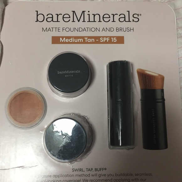 bareMinerals Other - Bare Minerals Matte Foundation/ Brush Medium Tan